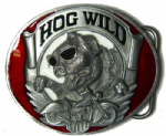 HOG WILD BELT BUCKLE + display stand